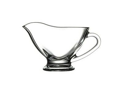 Pasabahce Basic Clear Glass Gravy Sauce Boat 170 ml Serving Sauce Dish