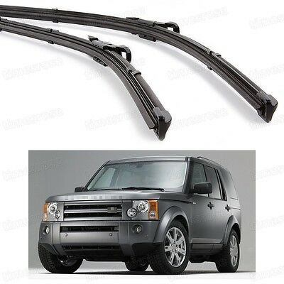 2Pcs Car Front Windshield Wiper Blade Bracketless Fit for Land Rover Discovery 3