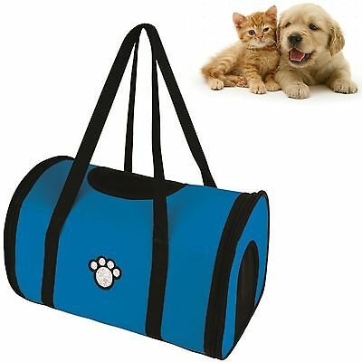 Fabric Pet Dog Crate Puppy Carrier Cat Travel Cage Carry Pet Bag Lightweigt Blue