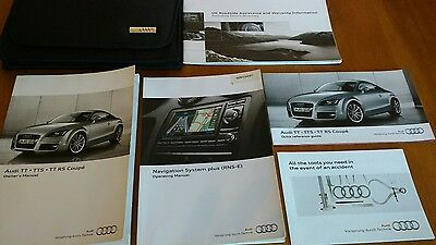 Audi Tt Coupe / Tts Coupe / Tt Rs Coupe Owners Manual - Handbook Pack