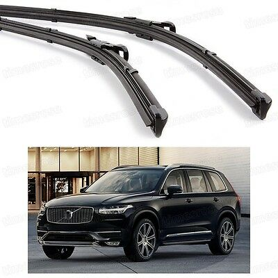 2Pcs Car Front Windshield Wiper Blade Bracketless Fit for Volvo XC90 2015-2016