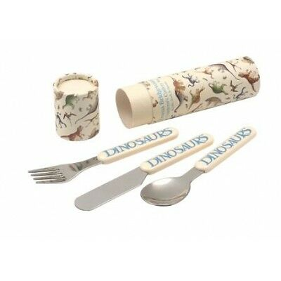 Emma Bridgewater POTTERSAURUS DINOSAUR 3 Piece Cutlery set in tube