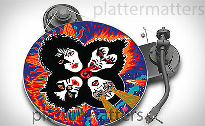 """Ltd Edition Record Collector's KISS 7"""" or 12"""" inch TURNTABLE platter MAT see all"""