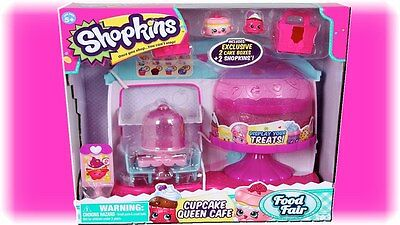 Shopkins Cupcake Queen Cafe + small supermarket double pack!! Free P+P!