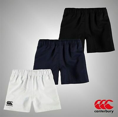 Junior Boys Canterbury Training Pro Polyester Rugby Shorts Bottoms Size Age 7-13