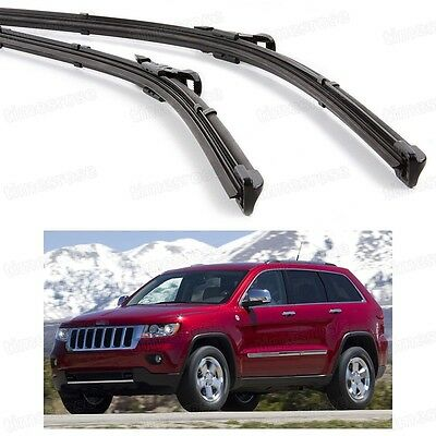 2Pcs Car Front Windshield Wiper Blade Bracketless for Jeep Grand Cherokee 11-16