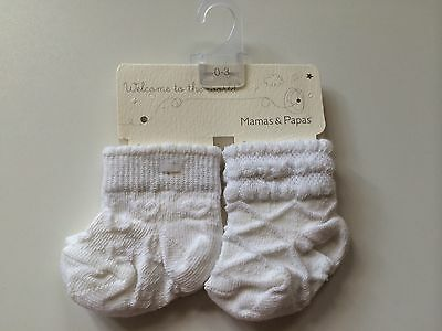 *Baby Clothes/ Girls Mamas & Papas Socks 0/3 Months* (Save & Combine Postage)