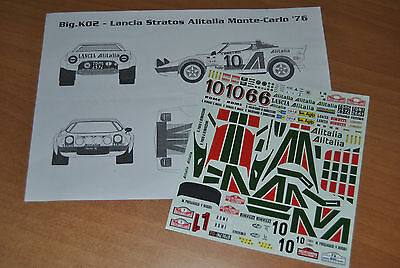 RACING43 1/24 DECAL - Ref.BIG D002 - LANCIA STRATOS GR.4 - ALITALIA - 1976-77