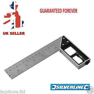 6'' / 150mm Tri & Mitre Set Square With Spirit Level Silverline 282651