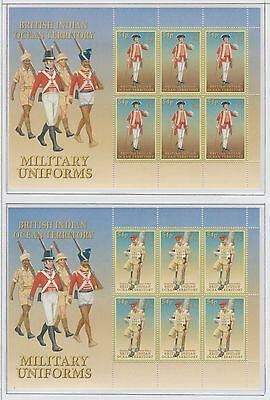 British Indian Ocean Territory Military Uniforms set of 6 Sheetlets U/Mint