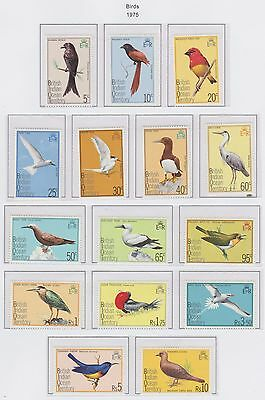 British Indian Ocean Territory set of 15 Birds 1975 U/Mint Stamps