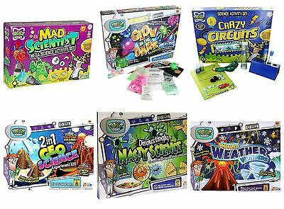 Science Activity Sets - Geo Science, Glow In The Dark, Crazy Circuits & More!