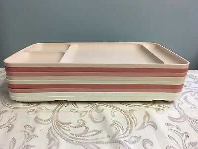 Tupperware 1535 Divided Food Tray Plate Lunch Dinner Picnic Lot 9 USA Vtg MCM