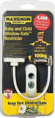 2 x Max6mum Window and Door Restrictor Child Baby Safety Security
