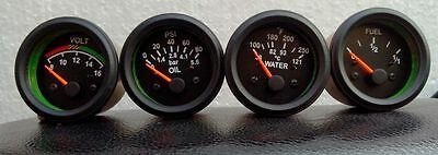 "VDO Type Elec Oil Pressure + Temperature + Volt + Fuel Gauge 2"" Electrical"