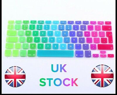 "Rainbow Keyboard Skin Cover For Apple Macbook Air 13""15""17"" UK Version/ UK STOCK"