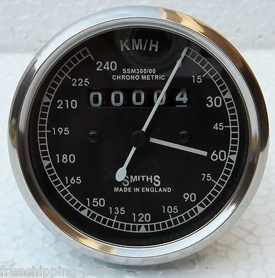 240 KPH Speedometer fits Royal Enfield Smiths Type