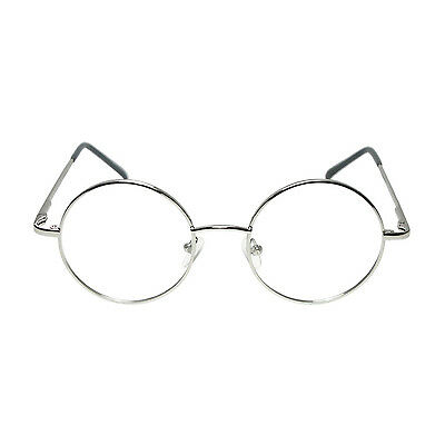Adults / Kids Silver Round Frame Granny Fancy Dress Glasses (WORLD BOOK DAY)