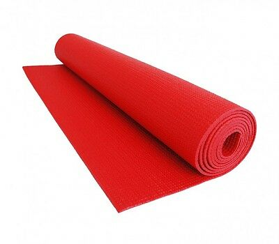 MWS2281 – Tapis CONFORT yoga, fitness, remise en forme 173x61cmx3mm - ROUGE