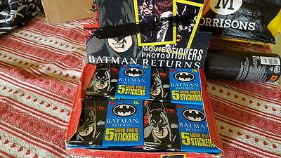 Vintage rare new 1992 Topps Batman Returns Movie trading card Stickers (1 pack)