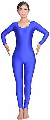 Speerise Adult Stirrup Long Sleeve Spandex Unitard Bodysuit, S, Black