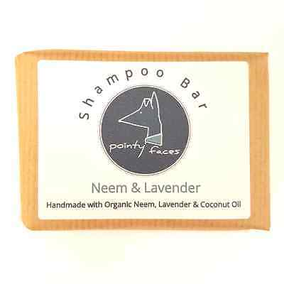 Dog Shampoo Organic Neem & Lavender for Skin & Coat Health. 80g Standard Bar