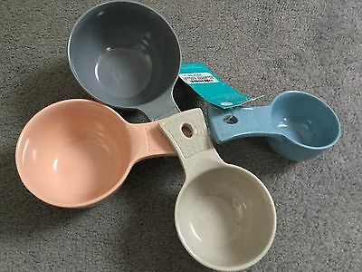 M&s Kitchen Measuring Cups In Pastel Mix Colours That Fit Together - Bnwt
