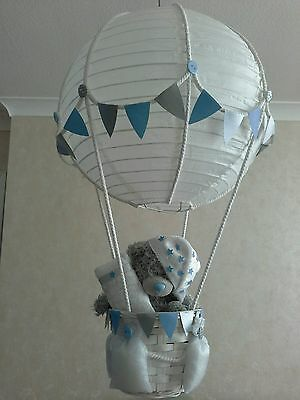 Tatty teddy in  Hot Air Balloon Light Shade  Made to order