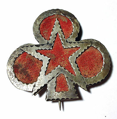 Civil War 2nd/12th Corps 1st Div II/XII Combo Badge Silhouette Metal/Fabric RARE