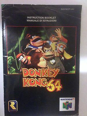 DONKEY KONG 64 Instruction Manual Booklet ONLY on the Nintendo 64 #84