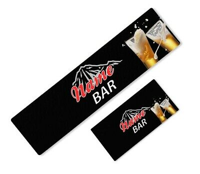 Personalised Coors Light Black Beer Bar Runner Ideal Home Pub Mat Party Occasion
