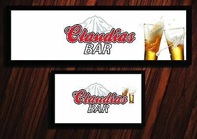 Personalised Coors Light White Beer Bar Runner Ideal Home Pub Mat Party Occasion