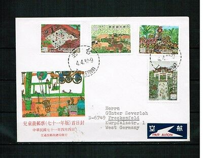 Taiwan China ROC 1982 Minr 1463-66 postal used FDC painting Gemälde Kinder child