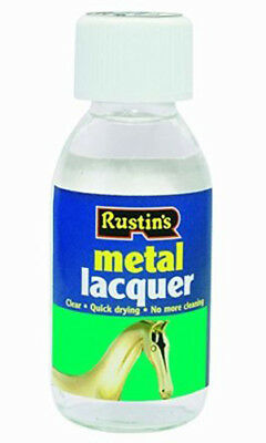 Rustins Clear Metal Lacquer 125ml Prevents Oxidisation and Tarnishing of Metals