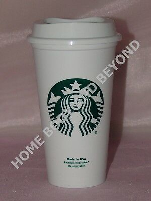 STARBUCKS Reusable Recyclable Grande 16 OZ Plastic Coffee Tea Cup Mug