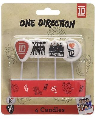One Direction Birthday Candles 4pk 1D