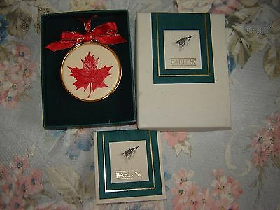 Stephen Barlow Designs Red Canadian Maple Leaf Ornament - Autumn Fall Christmas
