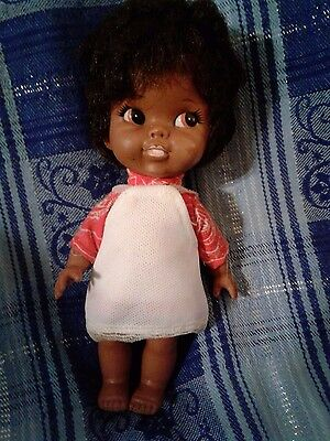 """Very Rare 7"""" African American Vintage Shiba Doll Made In Japan"""