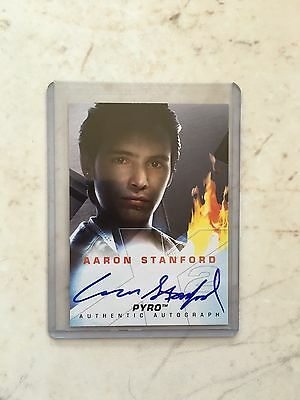X-Men Movie X2 Aaron Stanford Pyro Autograph Auto Card RARE