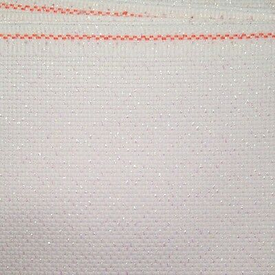 "Cross Stitch 14 Count Aida 18"" x 22"" piece Opalescent bright white"