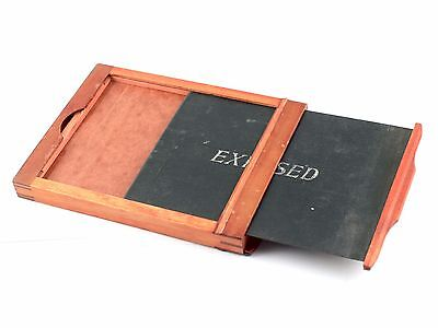 187229 Vintage 4x5 Wood Holder for Glass Plates