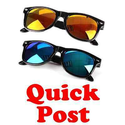 Kid Boy Girl Eyeglasses Fashion UV-400 Colorful Mirror Lens Eyewear Sunglasses