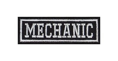 Mechanic Biker Patches Aufnäher Motorrad MC Rocker Bügelbild Kutte Heavy Badge