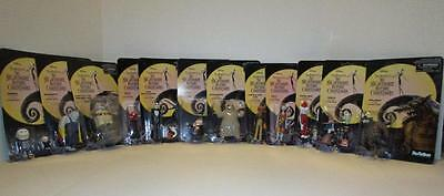 """NEW The Nightmare Before Christmas ReAction COMPLETE SET 3 3/4"""" Action Figures"""