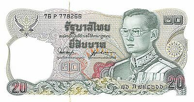 Thailand  20 Baht  ND. 1981  P 88 sign. # 53 Series 76 P Uncirculated Banknote