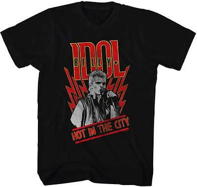 Billy Idol Hot In The City Adult T Shirt Punk Rock Music
