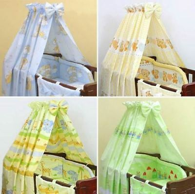 New Baby Printed Cotton Canopy / Drape Matching Fabric For Nursery Cot Cot Bed