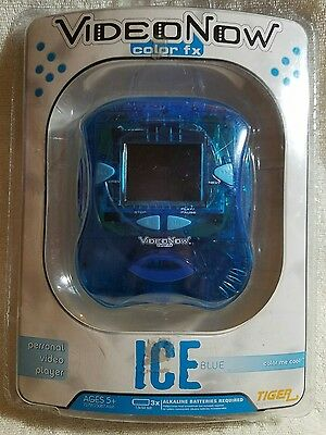 Video Now Color FX Personal Video Player Ice Blue Hasbro Tiger Electronics