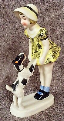 Young Girl With Wire Fox Terrier - Lot 22