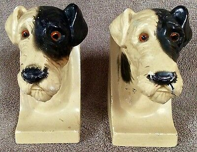 Pair Wire Fox Terrier Bookends Circa 1930s - Lot 22